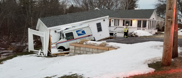 Mail Truck Crash